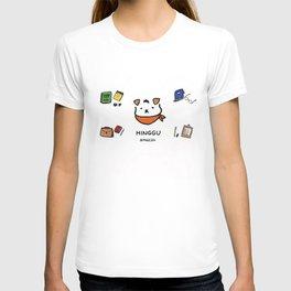 Hinggu_Note_Korea Jindo Dog illustration T-shirt