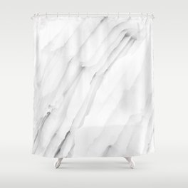 White Marble Edition 1 Shower Curtain