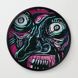 Pink Crazy Fella Wall Clock