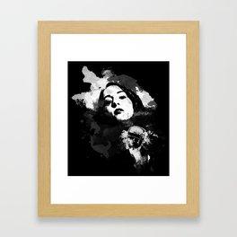 Face For Danger Framed Art Print