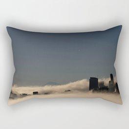 Seattle - peeking through the fog Rectangular Pillow