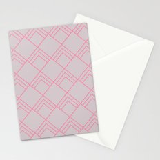 Diamond Art Deco; - Pink Stationery Cards