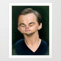 leonardo dicaprio Art Prints featuring Leonardo DiCaprio by Sri Priyatham