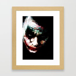 Why So Serious ? Framed Art Print
