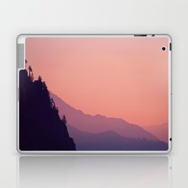 Pink Purple Orange Pastel Colorful Landscape Sunset Cliff Laptop & iPad Skin