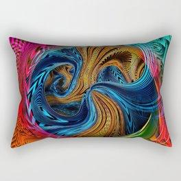 Hyperdimensional Sunbeam Rectangular Pillow