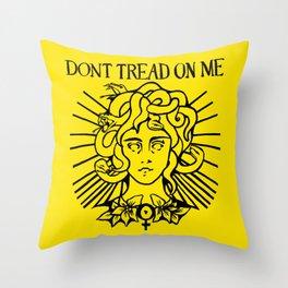 Medusa: Don't Tread On Me (Yellow) Throw Pillow