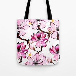 Watercolor Cherry Flowers III Tote Bag
