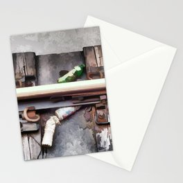 Bottles on the subway tracks Stationery Cards