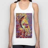 miami Tank Tops featuring miami by donphil
