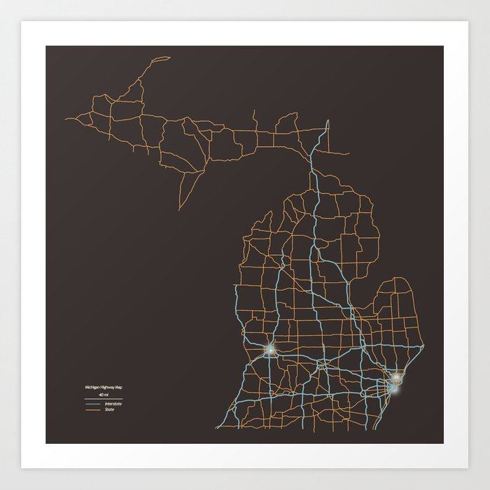 Michigan Highways Kunstdrucke