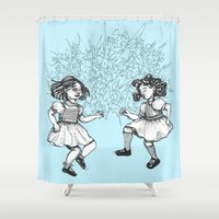dancing Shower Curtains featuring Dancing by Required Animals