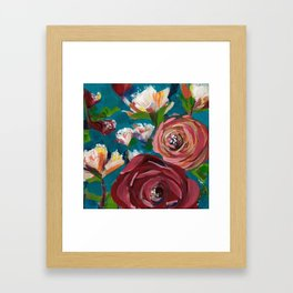 Aqua Bud Framed Art Print