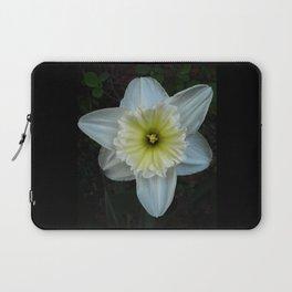 White Daffodil Laptop Sleeve