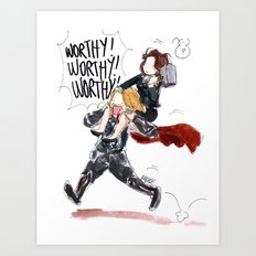 PEGGY CARTER IS WORTHY. Art Print