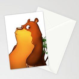 My Digital Zoo - Brown Bear Stationery Cards