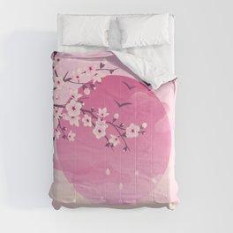 Japanese Cherry Blossom Pink Comforters