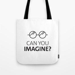 Can You Imagine John Classic Glasses Design Tote Bag