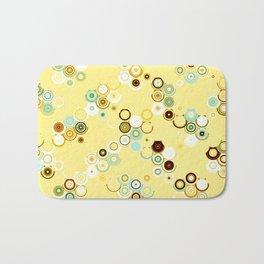 pastel geometric abstract pattern Bath Mat