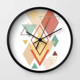 Scandinavian Colorful Geometric Abstract Art Wall Clock