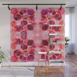 Pink Purple Orange Fused Abstract Wall Mural