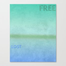 Lost..Free Canvas Print