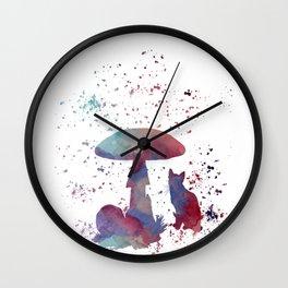 Whimsical cat Wall Clock