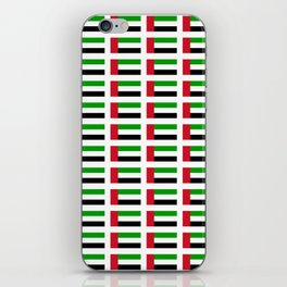 flag of UAE -united arab Emirates,Abu dhabi, dubai,emirati,الإمارات iPhone Skin
