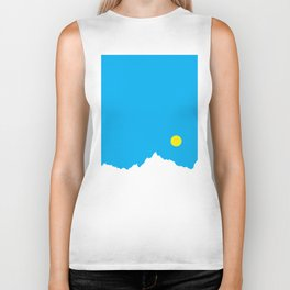 Mountain Sky Day Biker Tank