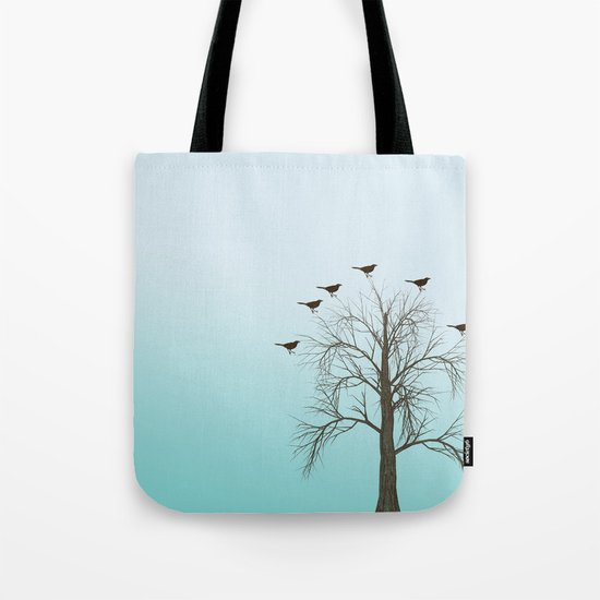 Tree with Birds Tote Bag