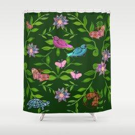 zakiaz magical forest Shower Curtain