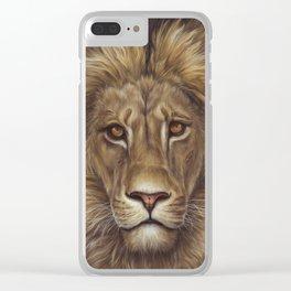 Animals   Lion Portrait   Nature   Painting   Art Clear iPhone Case