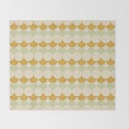 Retro Circular Pattern III Throw Blanket