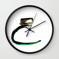 perfume Wall Clocks featuring perfume by gaus