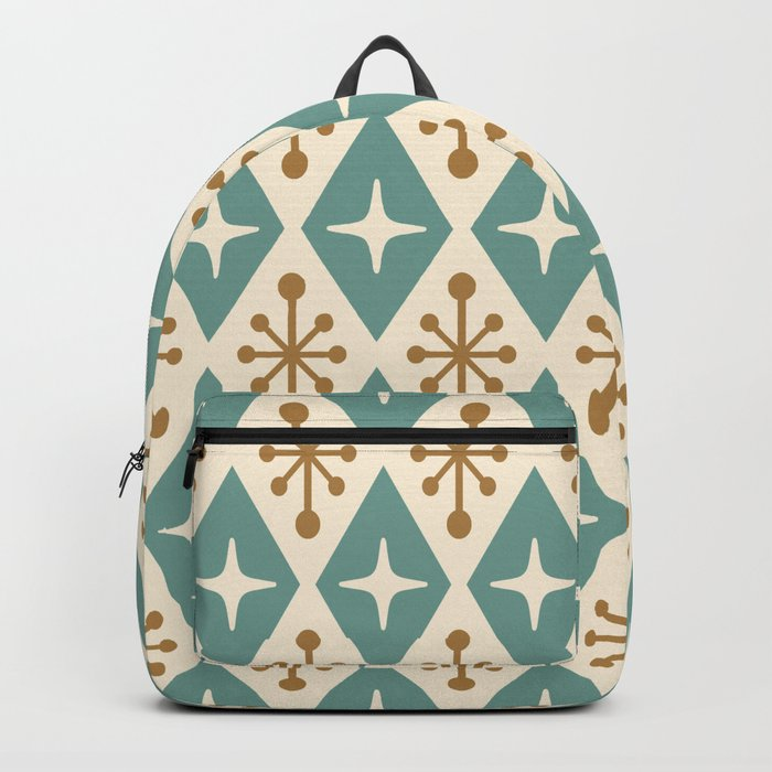 Mid Century Modern Atomic Triangle Pattern 102 Backpack