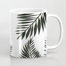 Black Watercolor Tropical Leaves Coffee Mug