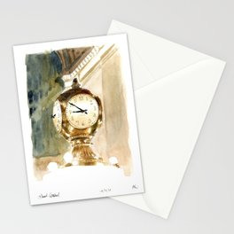 Grand Central Station Clock Stationery Cards