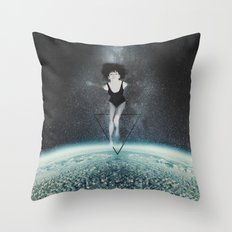 Interdimensional Travel Throw Pillow