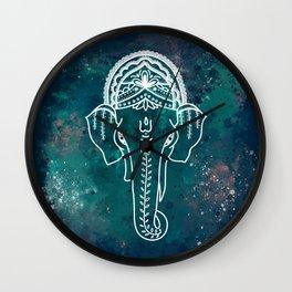 Lord Ganesha Watercolor Illustration Wall Clock