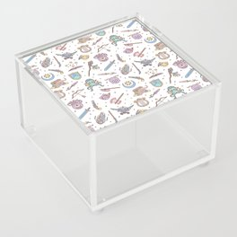 Cute Dungeons and Dragons Pattern Acrylic Box