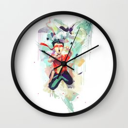Pursuit of Happiness (Blindfolded) Wall Clock