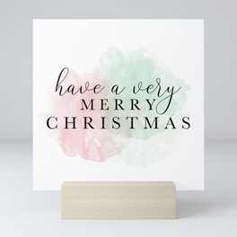 Have A Very Merry Christmas - Red And Green Mini Art Print