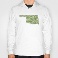 oklahoma Hoodies featuring Oklahoma in Flowers by Ursula Rodgers