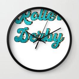 Roller Derby Wall Clock