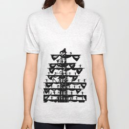 Mexican Navy's training vessel ARM Cuauhtémoc goes to Gdynia port Unisex V-Neck