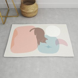 Abstraction_CAT_LOVE_DAY_NIGHT_MINIMALISM Rug