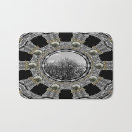 Metal power on Mother Earth Pop Art Bath Mat
