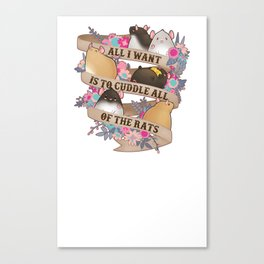 Cuddle All Of The Rats Canvas Print