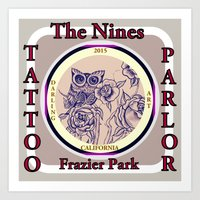 Design by Steph Darling at The Nines Tattoo and Art Parlor  Art Print