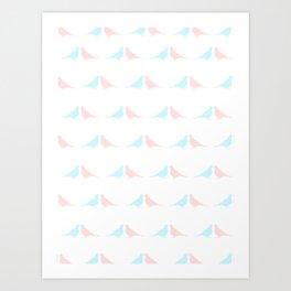 Little birds in love Art Print
